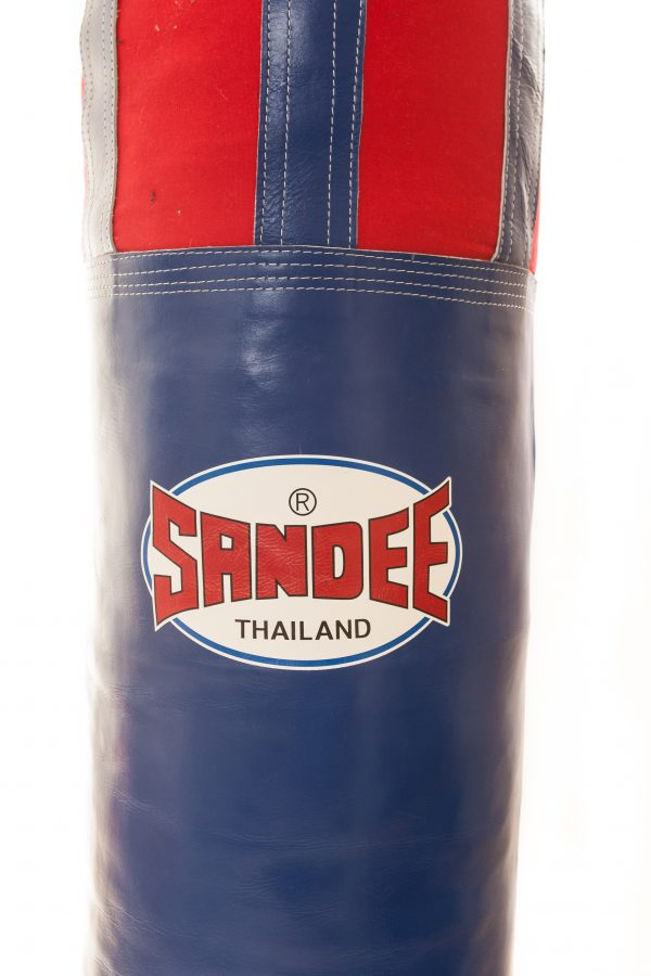 Sandee Red Half Leather Punch Bag
