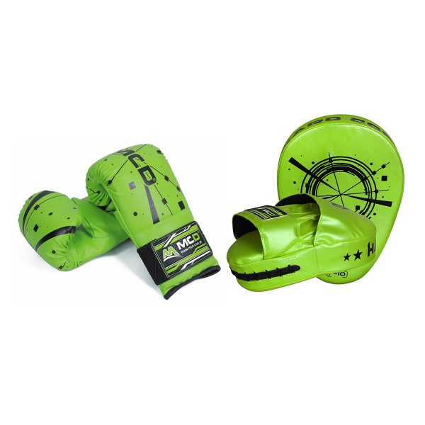 MCD Boxing Gloves and Pads Green