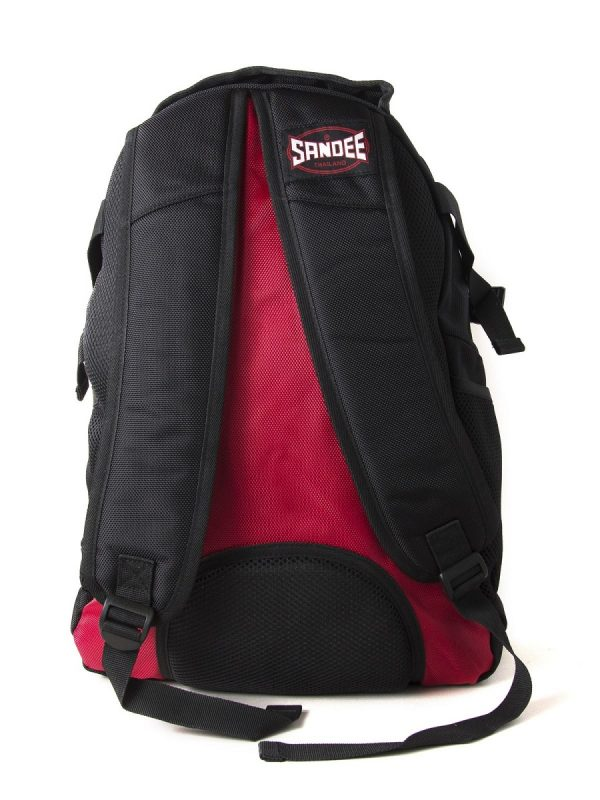 Sandee Heavy-Duty Black & Red Backpack