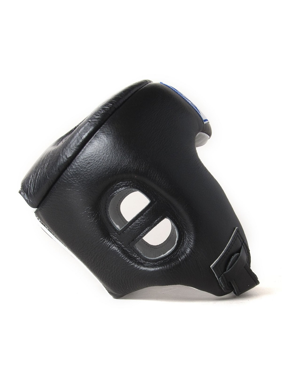 "Femmina   ""Sandee Open Face Synthetic Leather Head Guard black"""
