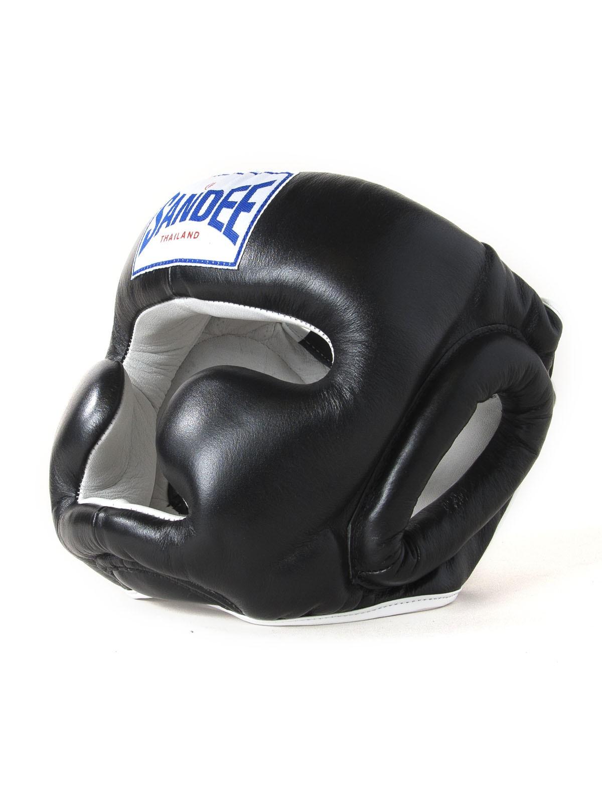 "Femmina | ""Sandee Closed Face Synthetic Leather Head Guard black"""