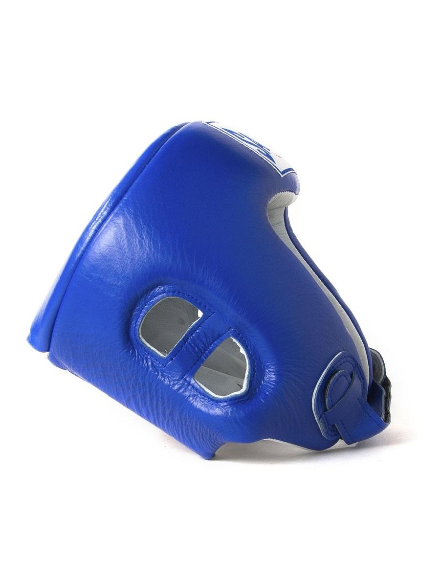 "Femmina   ""Sandee Open Face Synthetic Leather Head Guard blue"""