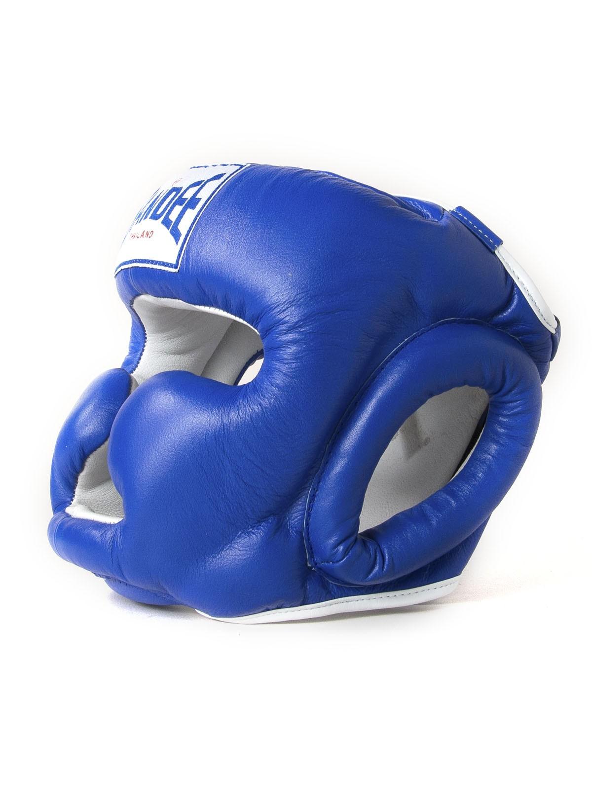 "Femmina | ""Sandee Closed Face Synthetic Leather Head Guard blue"""