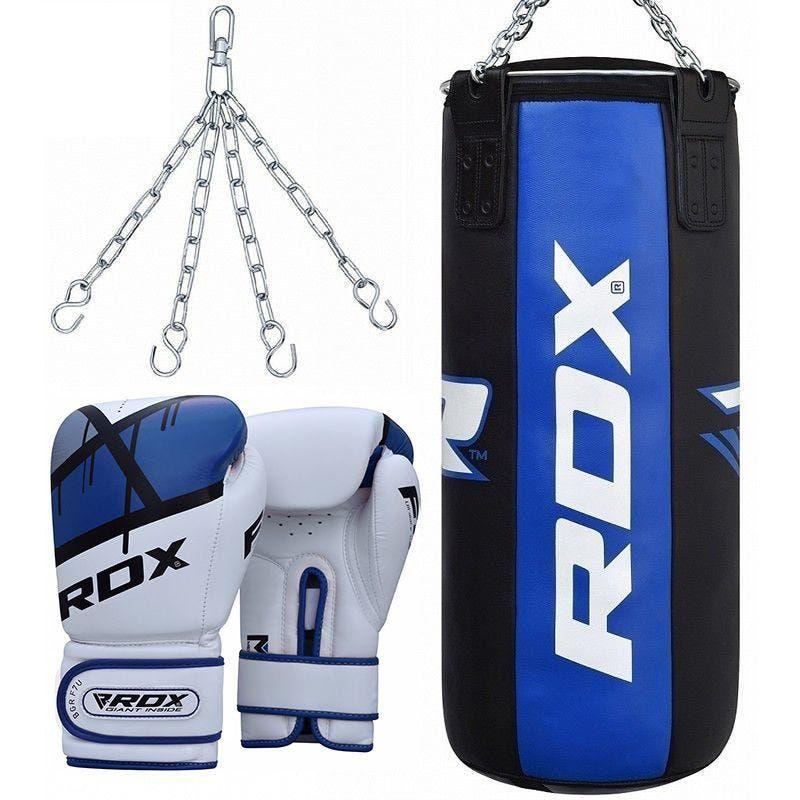 """Femmina   """"RDX F7 3ft 3-in-1 Somo Punch Bag with Ego Gloves Set 12oz filled"""""""