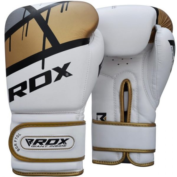 RDX F7 Boxing Gloves Gold