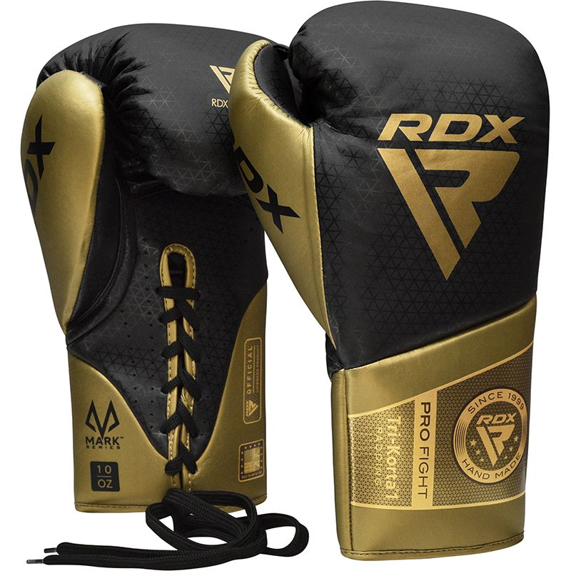 "Femmina   ""RDX K1 Mark Pro Fight Boxing Gloves gold 10oz"""