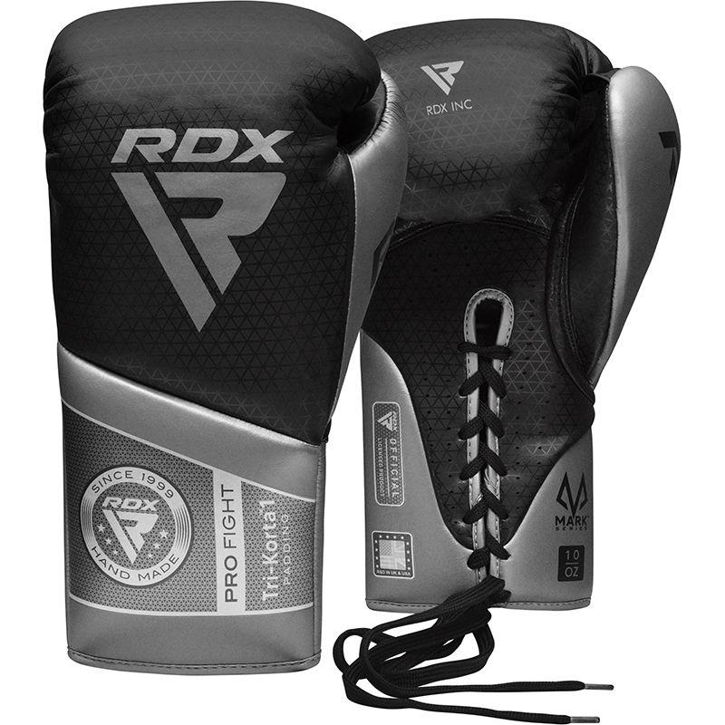 "Femmina   ""RDX K1 Mark Pro Fight Boxing Gloves silver 8oz"""