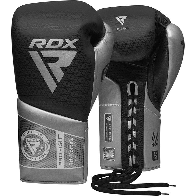 "Femmina   ""RDX K2 Mark Pro Fight Boxing Gloves silver 8oz"""