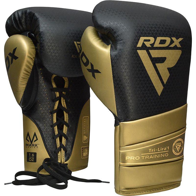 "Femmina   ""RDX L1 Mark Pro Training Boxing Gloves gold 10oz"""
