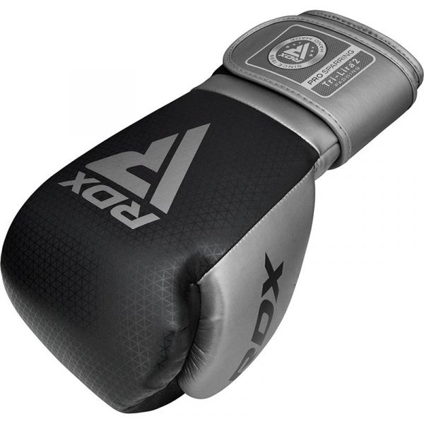 RDX L2 Mark Pro Sparring Boxing Gloves Hook and loop Black Grey