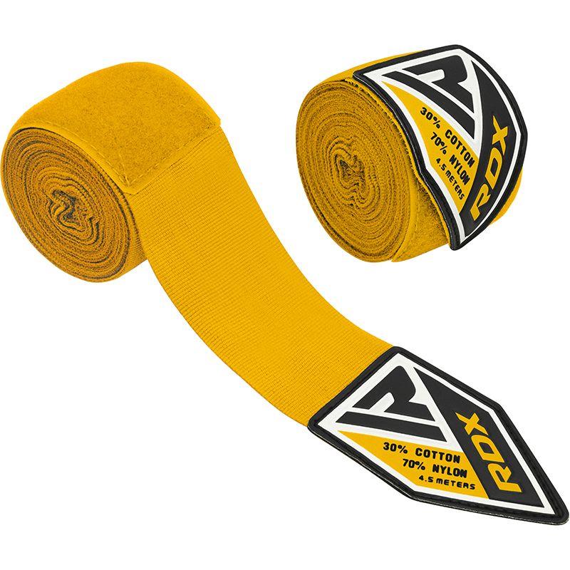"Femmina   ""RDX Professional Boxing Hand Wraps yellow"""