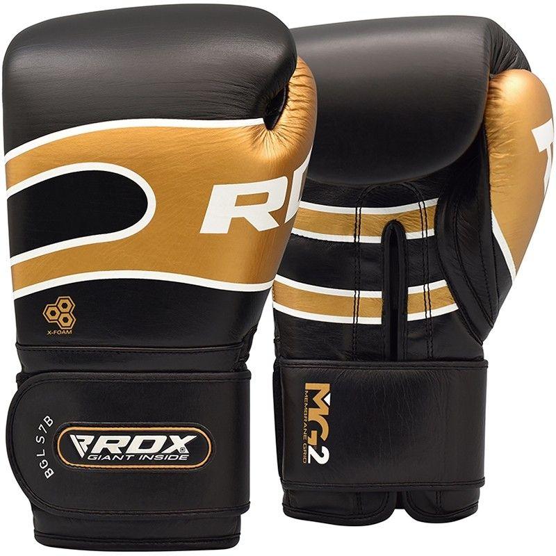 "Femmina   ""RDX S7 Bazooka Leather Boxing Sparring Gloves black 10oz"""