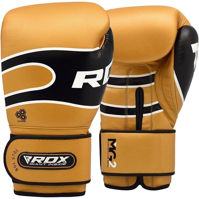 "Femmina   ""RDX S7 Bazooka Leather Boxing Sparring Gloves brown 10oz"""