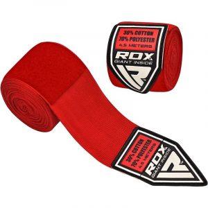 RDX Triple E Hand Wraps Set Red