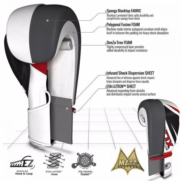 RDX X3 3ft 3-in-1 Pro Punch Bag with Gloves Set Red Black