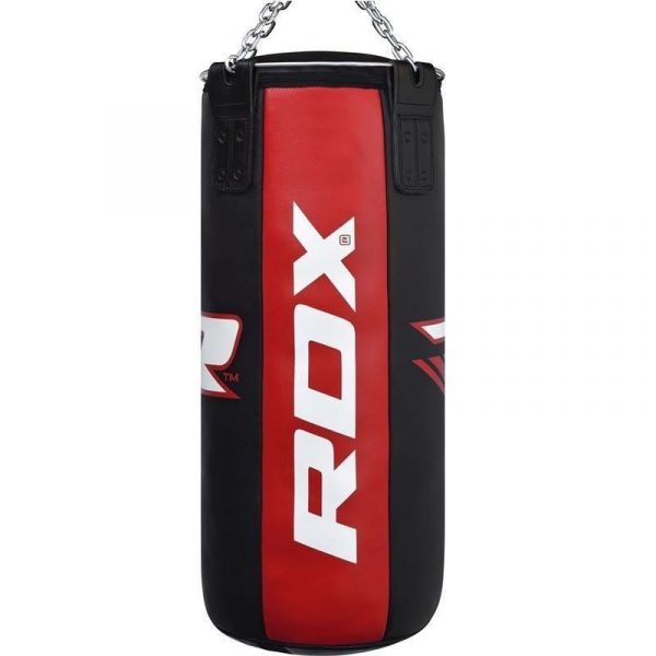 RDX X3 3ft 3-in-1 Pro Red Black Punch Bag with Gloves Set