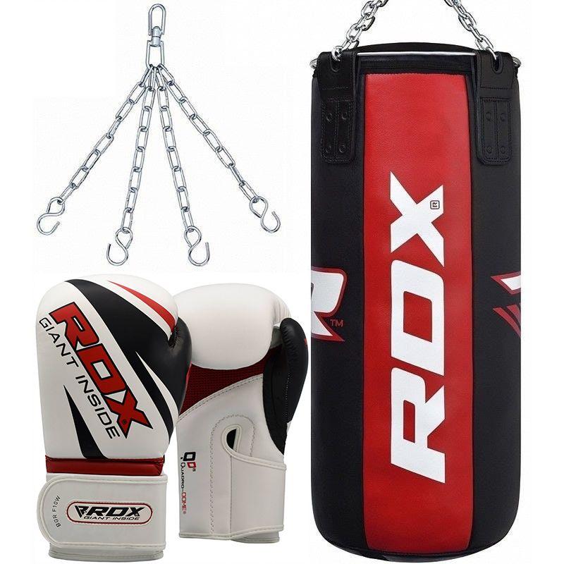 "Femmina   ""RDX X3 3ft 3-in-1 Pro Punch Bag with Gloves Set 12oz Filled"""