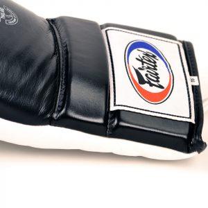 BGL3 Fairtex Black-White Lace-up Sparring Gloves