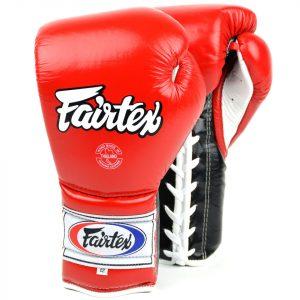 BGL7 Fairtex 12oz Red Mexican Lace-up Gloves