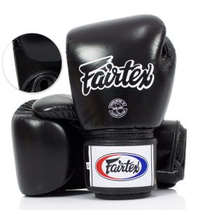 BGV1-B Fairtex Black Breathable Boxing Gloves