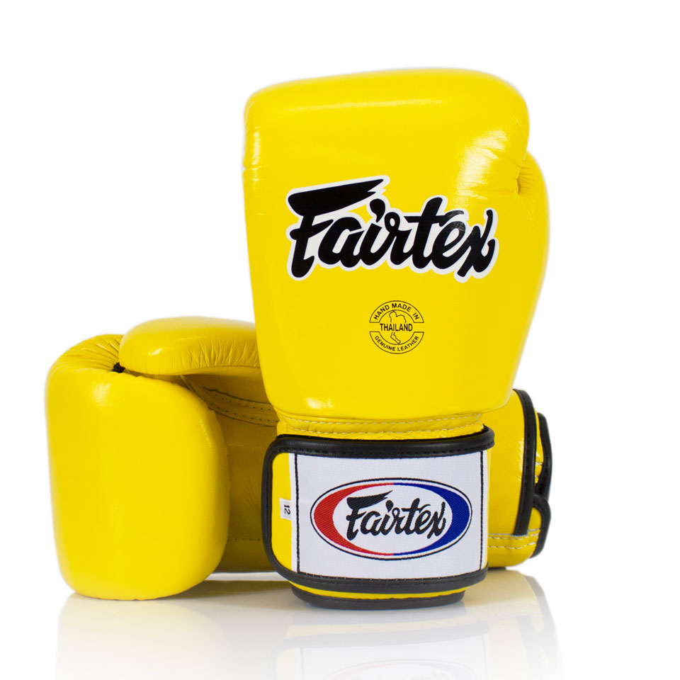 "Femmina | ""Fairtex Boxing Gloves Universal BGV1 Yellow 10oz"""