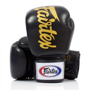 BGV19 Fairtex Black Deluxe Tight-Fit Gloves