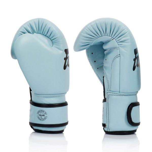 BGV20 Fairtex Pastel Blue Velcro Boxing Gloves