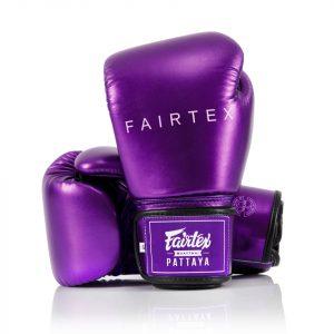 BGV22 Fairtex Metallic Purple Boxing Gloves