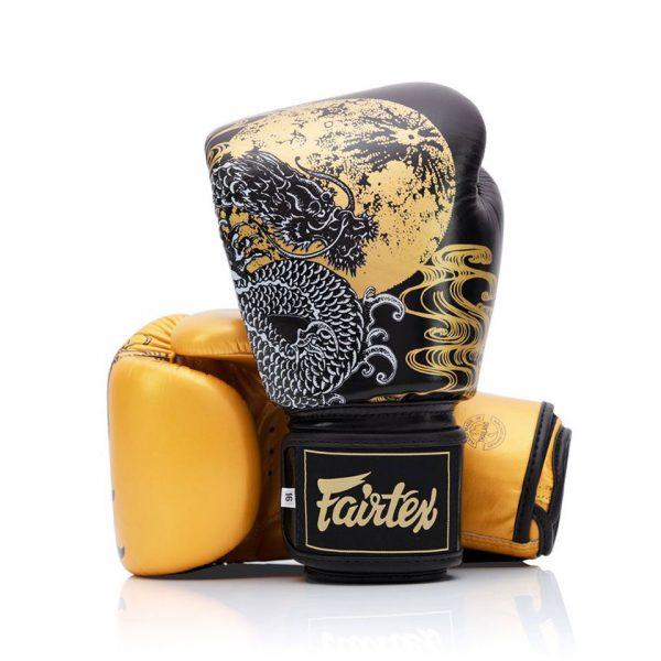 BGV26 Fairtex Harmony Six Black-Gold Boxing Gloves