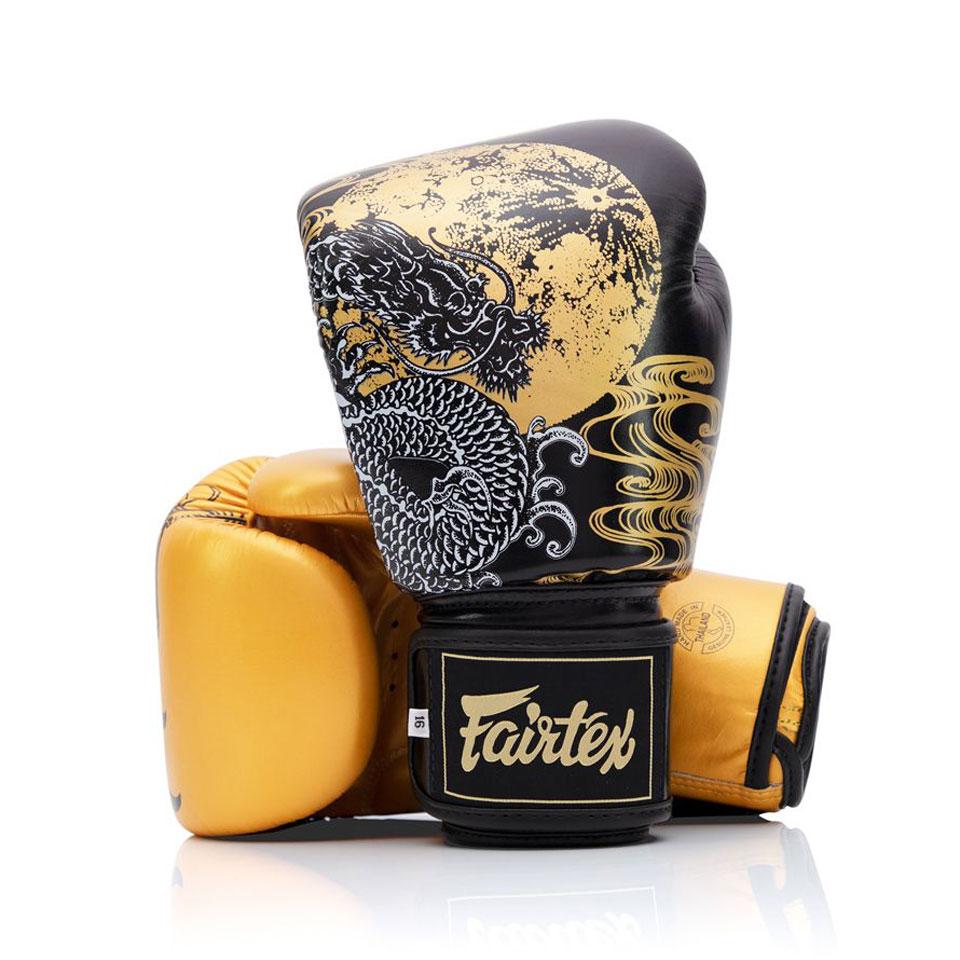 "Femmina   ""Fairtex Boxing Gloves BGV26 Harmony Six Black-Gold 10oz"""