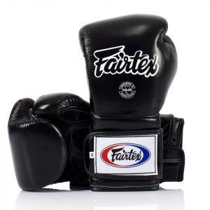 BGV9 Fairtex Black Mexican Style Boxing Gloves