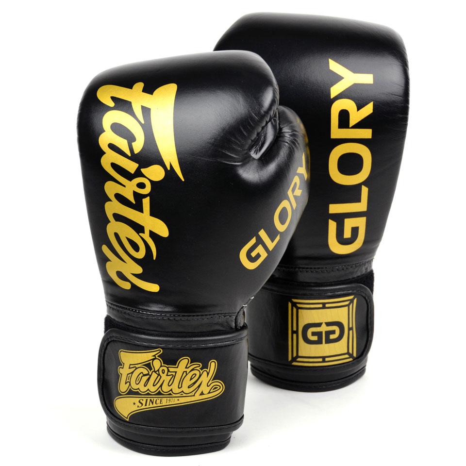 """Femmina   """"Fairtex Boxing Gloves X Glory BGVG1 Black 10oz"""""""