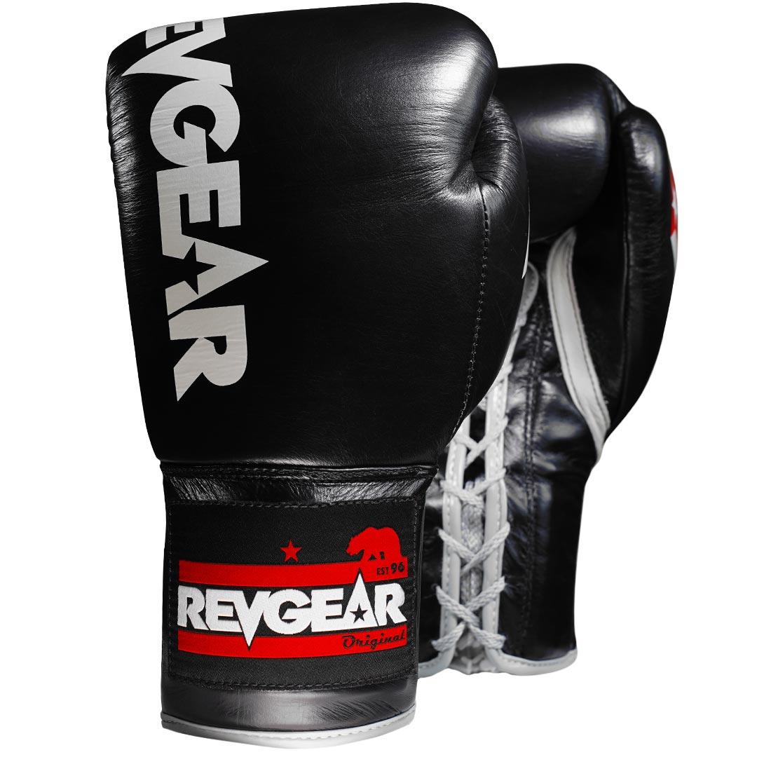 "Femmina | ""Revgear F1 Competitor Professional Boxing Fight Gloves Black Grey 8oz"""