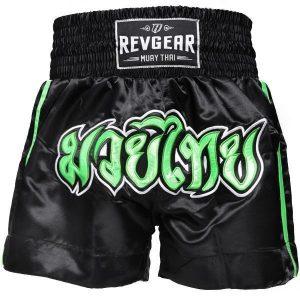 Kids Muay Thai Shorts - Black Green