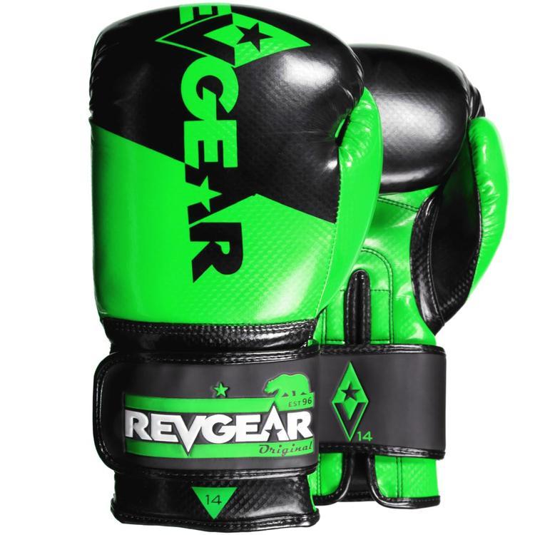 "Femmina | ""Revgear Pinnacle Boxing Gloves Black Green 10oz"""
