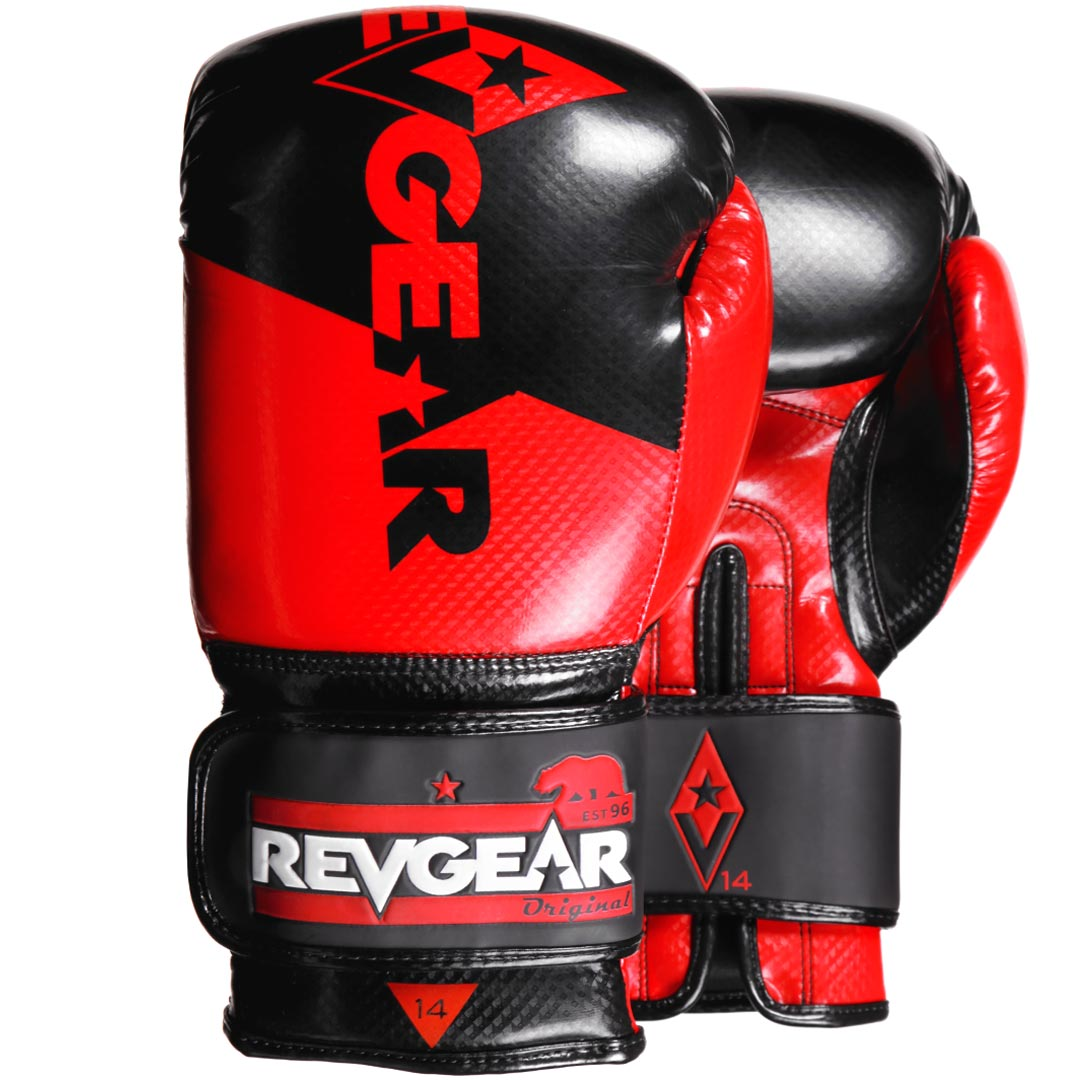 "Femmina | ""Revgear Pinnacle Boxing Gloves Red Black 10oz"""