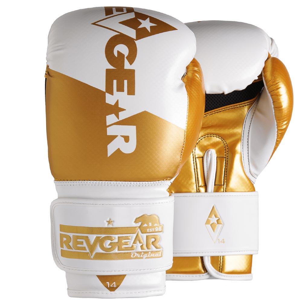 "Femmina | ""Revgear Pinnacle Boxing Gloves White Gold 10oz"""