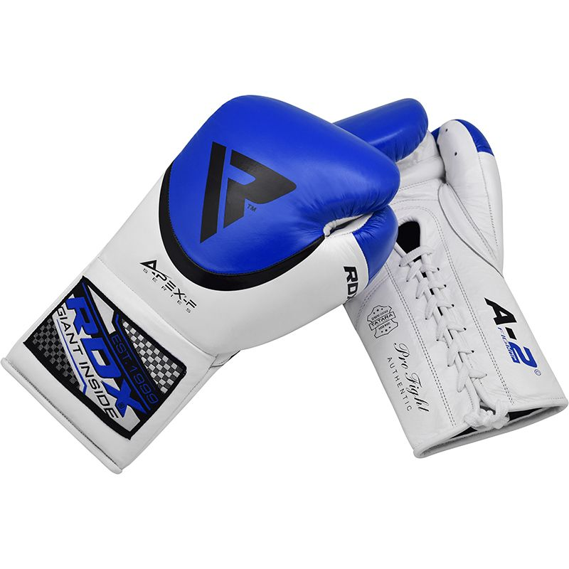 Image of RDX A2 BBBofC Approved Fight Boxing Gloves blue 10oz