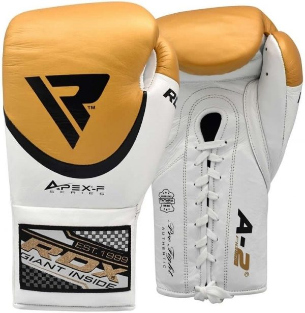 RDX A2 BBBofC Approved Fight Boxing Gloves Yellow