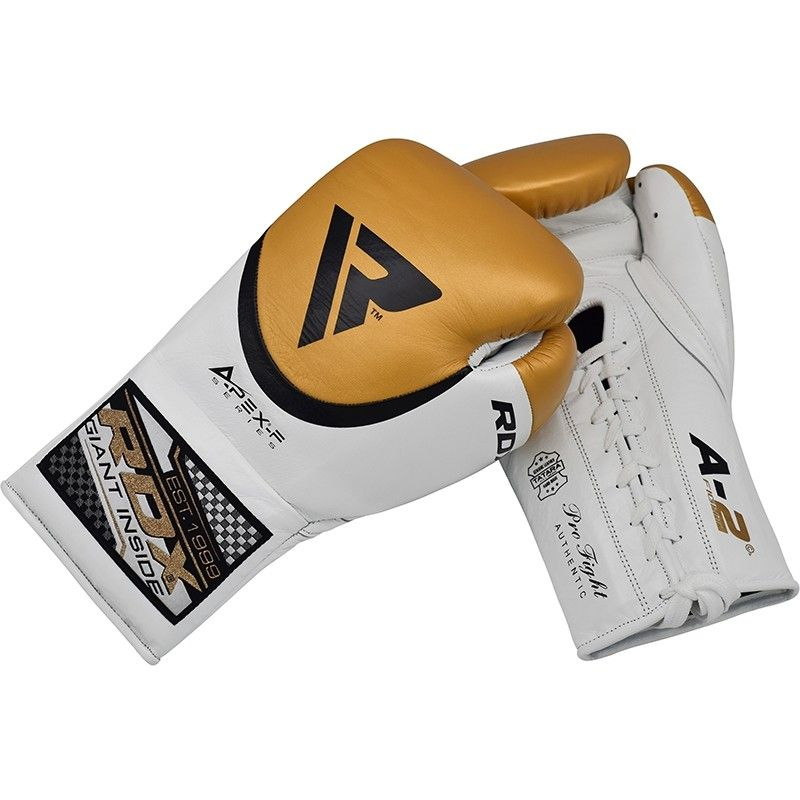 Image of RDX A2 BBBofC Approved Fight Boxing Gloves yellow 10oz