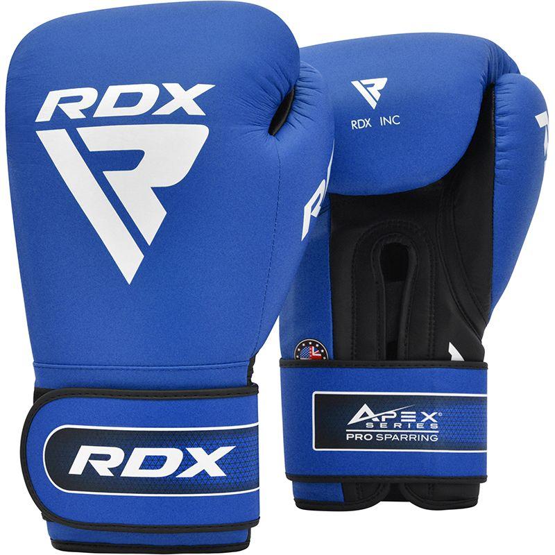 "Femmina   ""RDX APEX Sparring/Training Boxing Gloves Hook & Loop blue 10oz"""