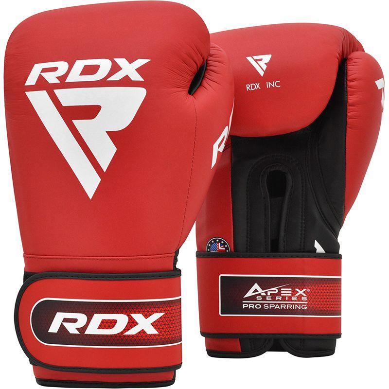 "Femmina   ""RDX APEX Sparring/Training Boxing Gloves Hook & Loop red 10oz"""