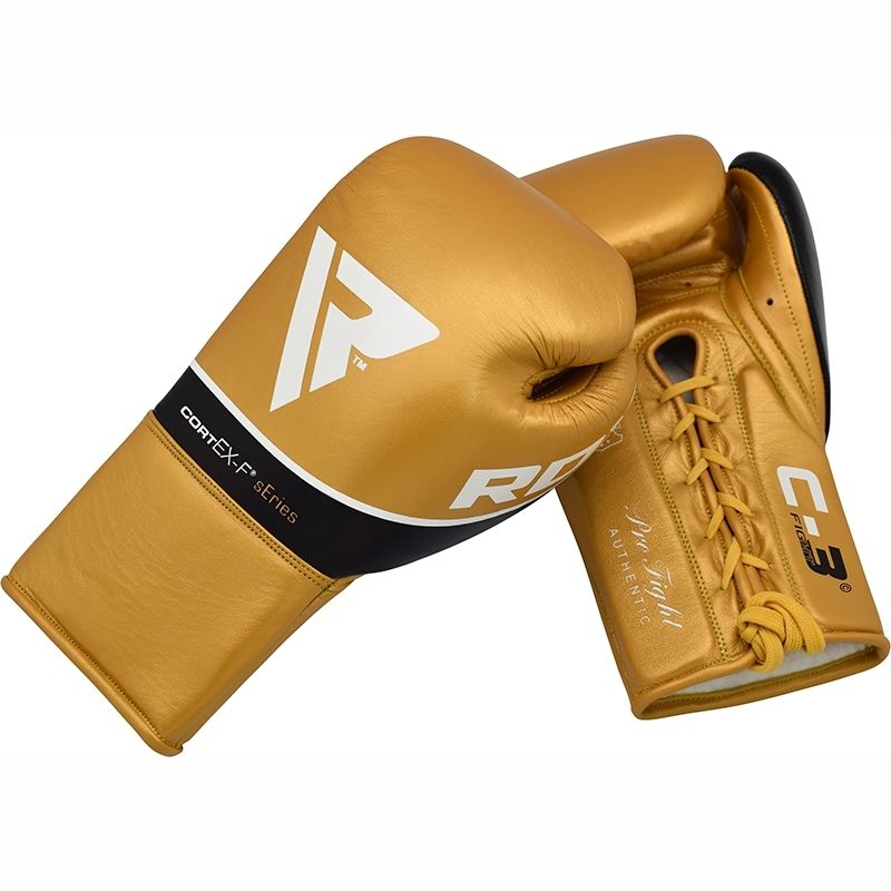 """Femmina   """"RDX C3 BBBofC Approved Fight Boxing Gloves gold 8oz"""""""