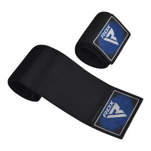 RDX T1 Elasticated Wrist Straps for Lace-Up Boxing Gloves Blue