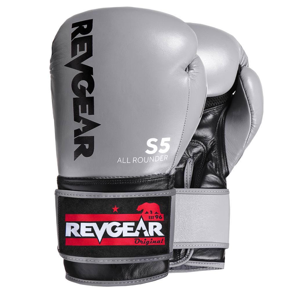 "Femmina | ""Revgear S5 All Rounder Boxing Glove Grey Black 10oz"""