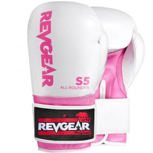 S5 All Rounder Boxing Glove - White Pink