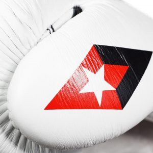 The Revgear F1 Competitor - Professional Boxing Fight Gloves - White/Black