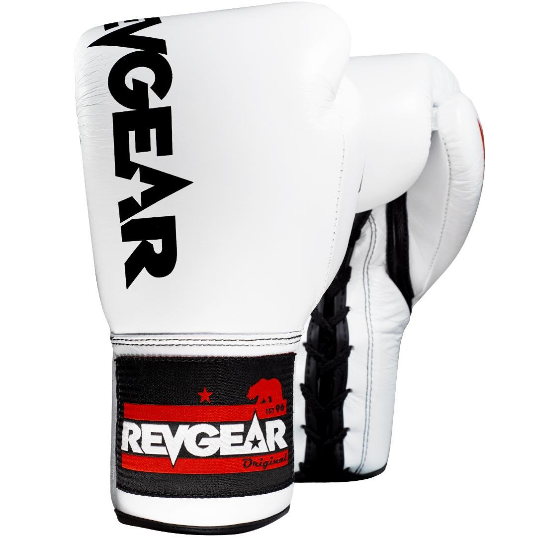 "Femmina | ""Revgear F1 Competitor Professional Boxing Fight Gloves White Black 8oz"""
