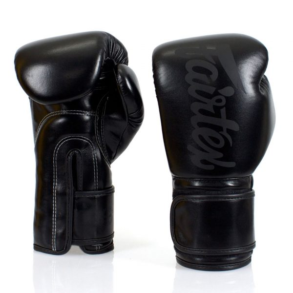 BGV14 Fairtex Solid Black Microfiber Gloves