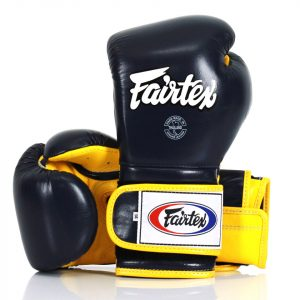 BGV9 Fairtex Blue-Yellow Mexican Style Boxing Gloves